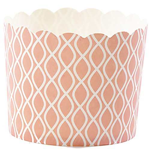 Simply Baked Large Paper Baking Cup  Coral Wave  240 Pack  Disposable And Oven Safe