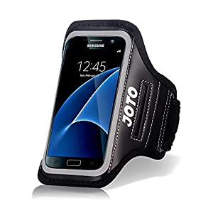 Samsung Galaxy S7 Sport Exercise Armband, JOTO Sport Protective Armband Case, with Key Holder, Credit Card / Money Holder, Sweat Proof, Best for Gym, Running , Exercise , Workout(Black)
