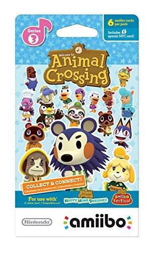 Nintendo Animal Crossing amiibo Cards Series 1, 2, 3, 4 for Nintendo Wii U and 3DS, 1-Pack (6 Cards/Pack) (Bundle) Includes 24 Cards Total by Nintendo (Image #4)