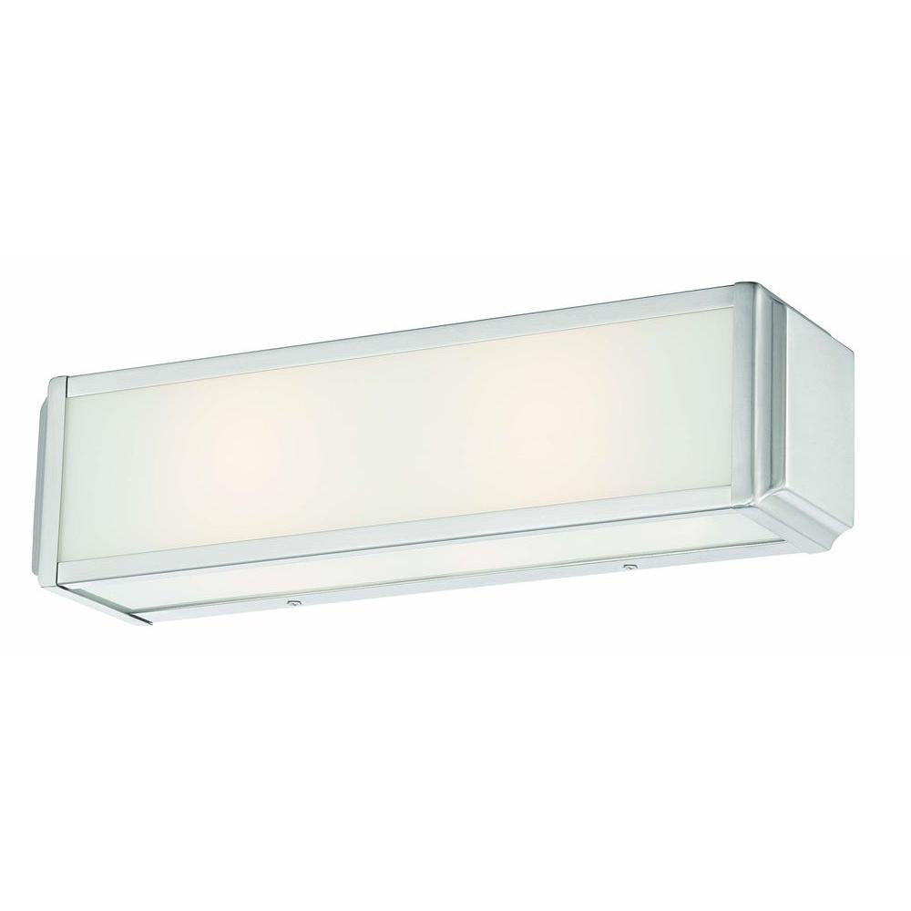 Hampton Bay Axton 2-Light Brushed Nickel Vanity Fixture