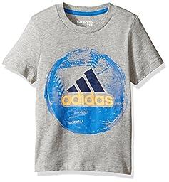 adidas Big Boys\' Active Tee Shirt, Gry, S