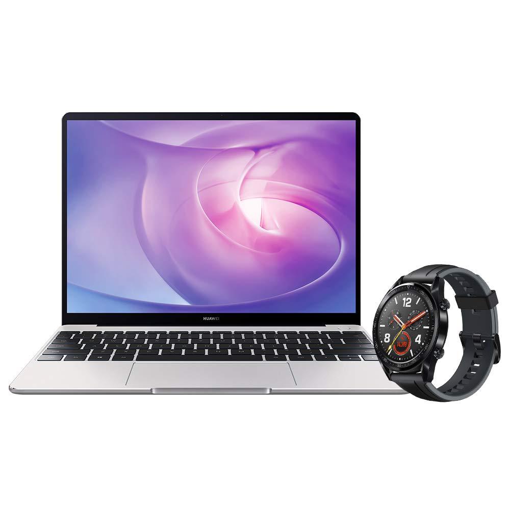 "Huawei Matebook 13 - Ordenador portátil ultrafino 13"" 2K (Intel Core i5-8265U, 8GB RAM, 256GB SSD, Intel Graphics, Windows 10) Plata - Teclado QWERTY Español + Watch GT"