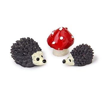 10 PCS Fairy Garden Accessories Miniature Dollhouse DIY Hedgehog Resin Decor UK