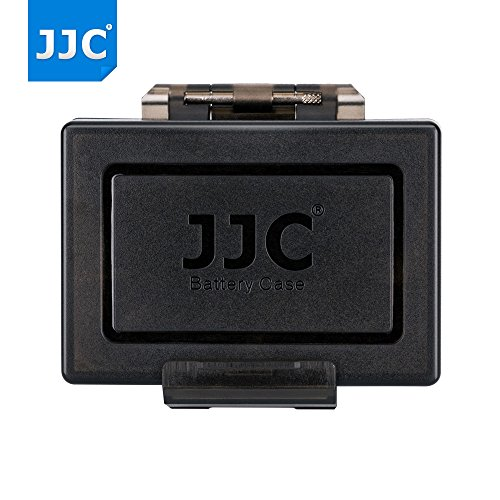 JJC Universal Water-Resistant Camera Battery Case with 2 SD Card Slots Storage for Canon LP-E8 LP-E17 Nikon Fujifilm NP-W126S NP-95 Sony NP-FW50 Olympus Pentax Panasonic Sigma Battery < 56x38x21mm