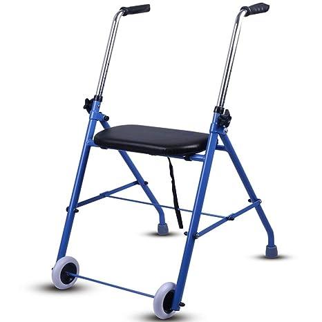 Andador plegable de aluminio con asiento acolchado, bolsa de ...