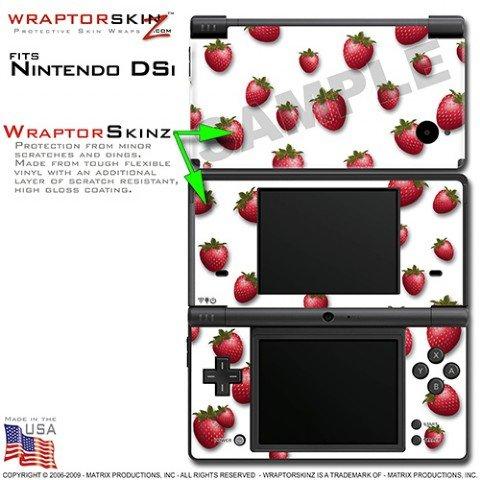 Nintendo Ds Strawberry (Nintendo DSi Skin Strawberries on White WraptorSkinz Skins (DSi NOT INCLUDED))