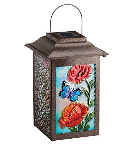 Regal Arts SS-Rag-11469 16.5 inch Solar Garden Butterfly Lantern by Regal Arts