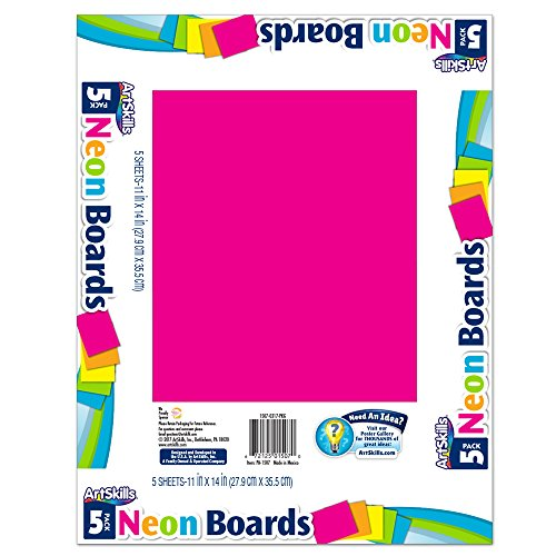 - ArtSkills Neon Poster Boards, Assorted Colors, 11