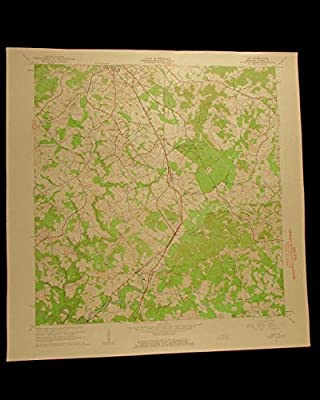 Kentucky Laurel River Lily vintage 1963 original USGS Topographical chart