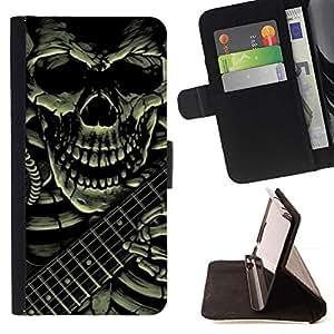 Momo Phone Case / Flip Funda de Cuero Case Cover - Guitar Rock Death Metal Pesado - Samsung ALPHA G850