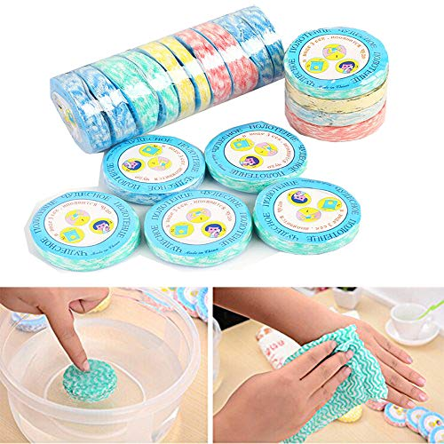 2018 New 20 pcs/lot Magic Nonwoven3030 Mini Compressed Towel Travel Disposable Compressed Disposable Pure Cotton Compressed Wash Face Towel Washcloth Tissue Great for Travel Camping and Hiking