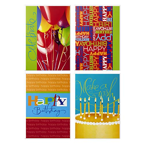 Company Birthday Cards (Assorted Birthday Greeting Cards, Hallmark (Bright Icons, 12 Cards and)