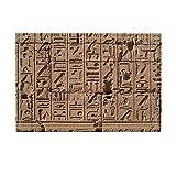 KOTOM Egyptian Shower Decor, Egyptian Hieroglyphics on Vintage Wall Bath Rugs, Non-Slip Doormat Floor Entryways Indoor Front Door Mat, Kids Bath Mat, 15.7x23.6in, Bathroom Accessories, Browwn