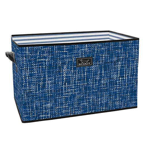 SCOUT JUNQUE Trunk Extra Large Organizer for Car and Home, Collapsible Storage Tote with Reinforced Bottom (Multiple Patterns Available)