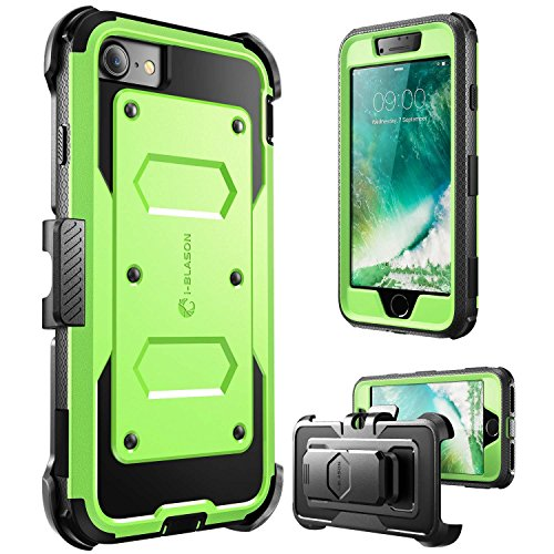 i-Blason Case for iPhone 7 2016/iPhone 8 2017 Release, [Armorbox] Built in [Screen Protector] [Full body] [Heavy Duty Protection ] Shock Reduction/Bumper Case (Green)