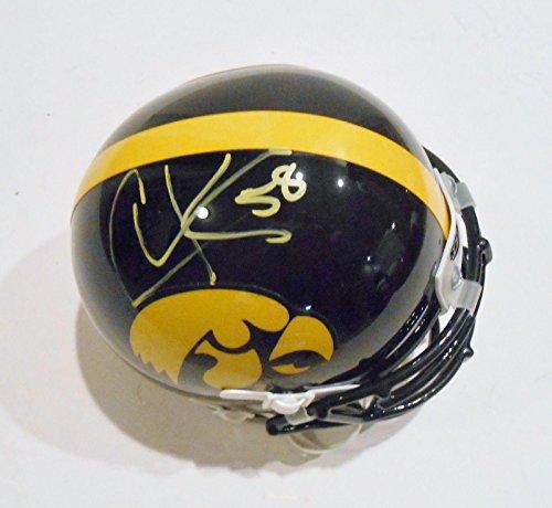 - Christian Kirksey Autographed Mini Helmet - Iowa w COA Hawkeyes - Autographed College Mini Helmets