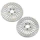 TARAZON 2pcs Front Brake Rotor for Harley Davidson Touring Bike 2000-2007