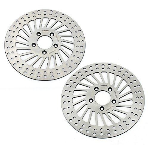 Spoke 5 Rotor (TARAZON 2pcs Front Brake Rotor for Harley Davidson Touring Bike 2000-2007)