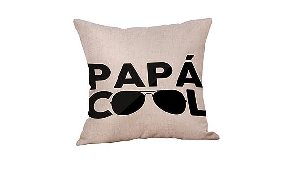 LiPing Funda de cojín para el día del padre, 45 x 45 cm, lino de dibujos animados, ideal para tu hija, hija, esposa: Amazon.es: Hogar