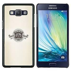 TECHCASE---Cubierta de la caja de protección para la piel dura ** Samsung Galaxy A5 ( A5000 ) 2014 Version ** --P D M logo lema escudo retro de plomería