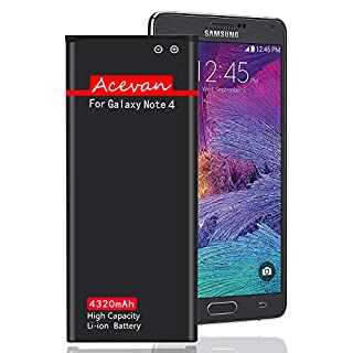 Note 4 Battery Acevan 4320mAh Replacement Battery for Samsung Galaxy Note 4, N910, AT&T N910A, Verizon N910V, Sprint N910P, T-Mobile N910T, N910U LTE, N910F, Note4 Battery