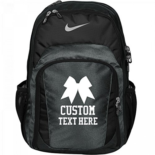 Custom Cheerleader Practice Backpack With Bow: Nike Performance Backpack by Customized Girl