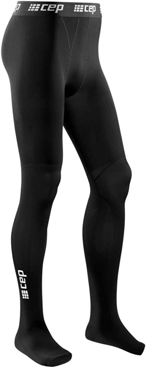 Recovery Compression Leggings for Men - CEP Men's Recovery Pro Tights, Black III