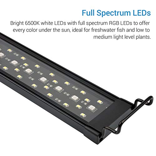 NICREW SkyLED Aquarium Light for Planted Tanks, Full Spectrum Freshwater Fish Tank Light, 30 to 36-Inch, 24-Watt