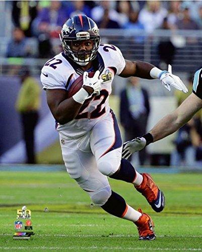 """C.J. Anderson Denver Broncos Super Bowl 50 Action Photo (11"""" x 14"""")"""