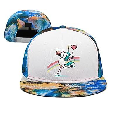 Trum Namii Unisex Personalized Baseball Cap Skating Unicorn Cake Men Snapback Hat