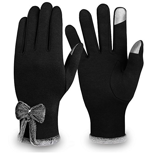 Winter Touch Screen Gloves,IEKA Thick Warmest Windproof Gloves,Fashion Touch Screen Fingers,Suitable for...