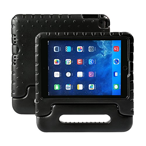 NEWSTYLE Kids Case for iPad 9.7 inch 2017/2018 Shockproof Stand Cover with Built-in Handle for Children for Apple New iPad 9.7-inch 2017 2018 (Black)