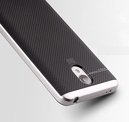 iPaky-Ipy-RNote3-Luxury-High-Quality-Ultra-Thin-Dotted-Silicon-Black-Back-PC-Silver-Frame-Bumper-Back-Case-Cover-for-Xiaomi-Redmi-Note-3-Silver