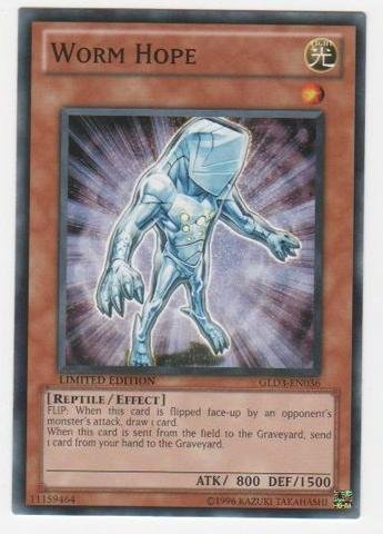 (Yu-Gi-Oh! - Worm Hope (GLD3-EN036) - Gold Series 3 - Limited Edition - Common)