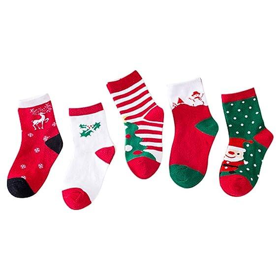 ARAUS Bebé Calcetines de Navidad Calcetines de Algodón Niños Niñas Navidad Disfraz Zapatos de Bebé Patrón de Papá Noel 1-12 años: Amazon.es: Ropa y ...