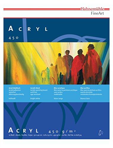 Hahnemühle ACRYL Malkarton, 10 Blatt, 450g, 30 x 40 cm