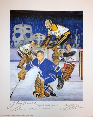 Autograph Authentic flat_litho_legendsofthecrease_sm4sigs Legends of the Crease Lithograph - 4 Autographs