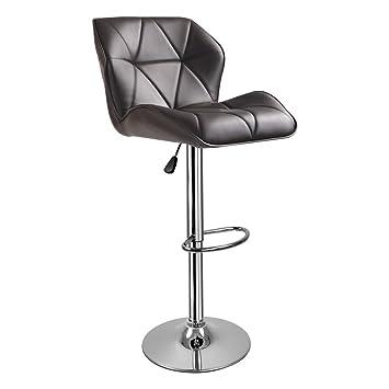 Hollylife set de 1 silla para barra de desayuno giratorias, piel ...