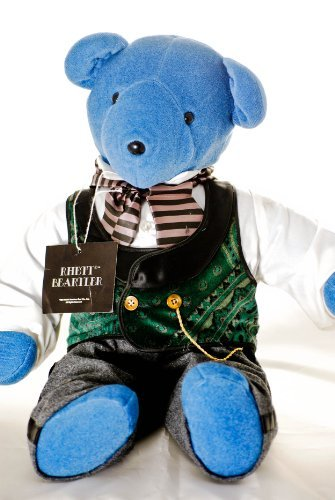 North American Bear Co - V.I.B.s - Rhet Beartler - Blue Bear - 20 Inches - Wool Trousers - Paisley Vest - Watch Chain - Cravat - Very Rare - Out of Production - Limited Edition - Collectible (Paisley Bear)