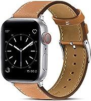 BRG コンパチブル Apple Watch バンド 本革 ビジネススタイル コンパチブル アップルウォッチバンド コンパチブル Apple Watch 6/5/4/3/2/1/SE(38mm/40mm,ブラウン)