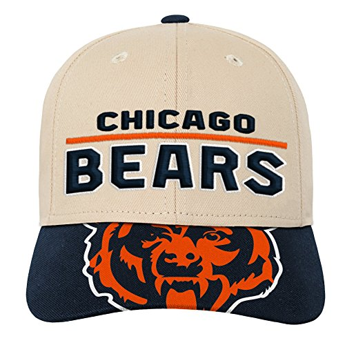 (Outerstuff NFL NFL Chicago Bears Youth Boys Retro Style Logo Structured Hat Deep Obsidian, Youth One Size)