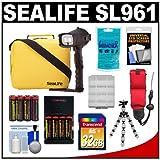 SeaLife SL961 Universal Underwater Photo/Video Pro Flash with Arm Bracket & Case + 32GB Card + Batteries & Charger + Flex Tripod + Silica Gel + Accessory Kit