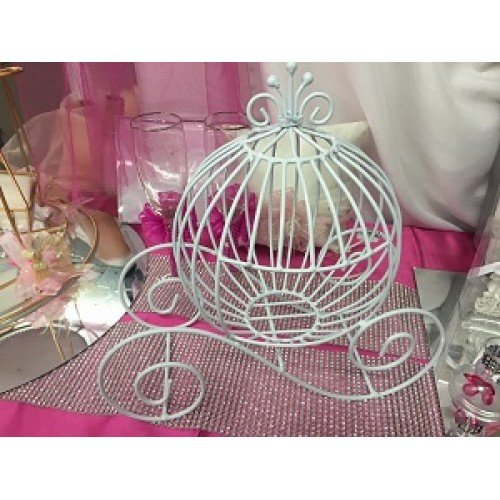 wire baby carriage centerpiece - 7