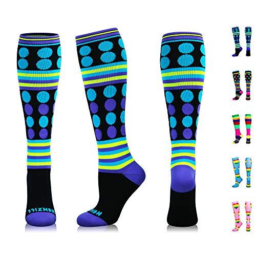 NEWZILL Swag Compression Socks (20-30mmHg) for Men & Women, Best Graduated Athletic Fit for Running, Nurses, Edema, Diabetic, Shin Splints, Flight Travel & Pregnancy (Swag Purple, Medium)