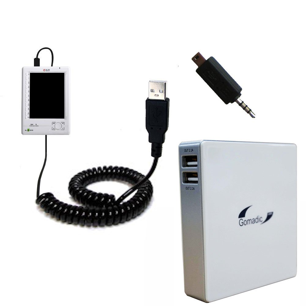 Gomadic High Capacity Rechargeable External Battery Pack suitable for the Hanvon HandyBOOK N516