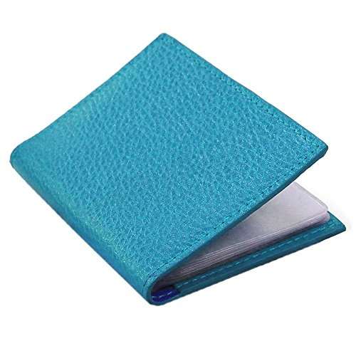 Turquoise 12 Leather nbsp;Slots Laurige Business manufacture Card Holder Luxury French Bleu vIEIwpqnx