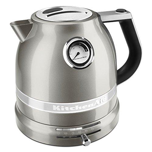 (KitchenAid KEK1522SR Pro Line Sugar Pearl Silver 1.5 Liter Electric Kettle)