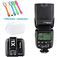 Godox TT600 2.4G high speed sync Wireless Camera Flash Speedlite +Godox X1T-N Remote Trigger Transmitter for Nikon+ CONXTRUE USB LED free gift