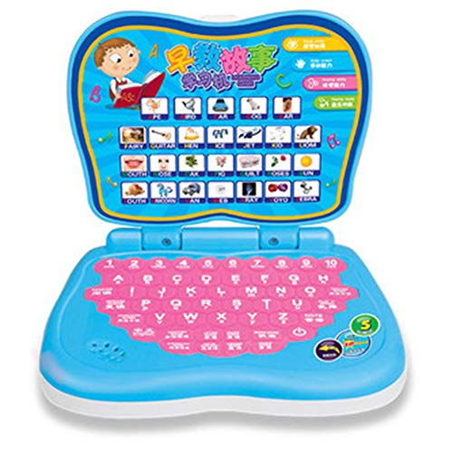 lightclub Early Learning Brain Training Educational Computer Toy English Learning Machine Kids Novelty and Funny Toy for Baby Boy Girl Blue -