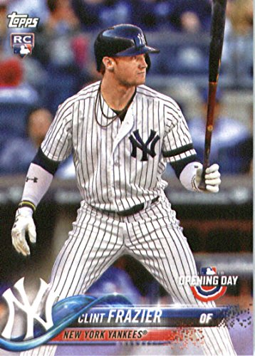 2018 Topps Opening Day #117 Clint Frazier New York Yankees Rookie Baseball Card